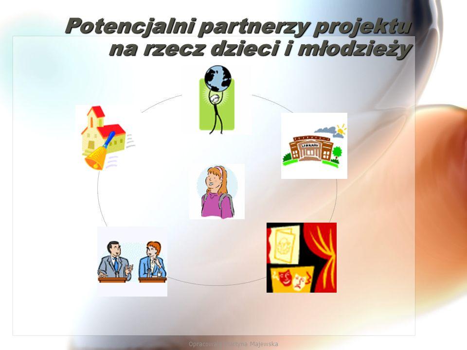 Opracowała Martyna Majewska Potencjalni partnerzy projektu na rzecz dzieci i młodzieży