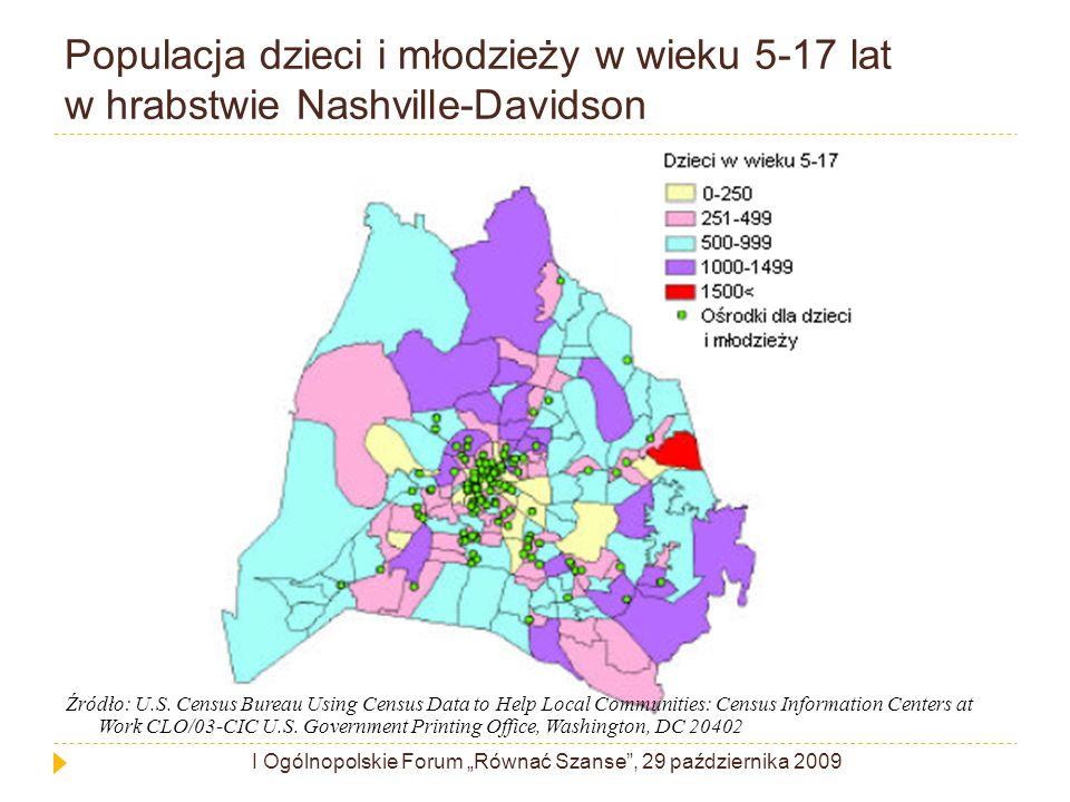 Populacja dzieci i młodzieży w wieku 5-17 lat w hrabstwie Nashville-Davidson Źródło: U.S.