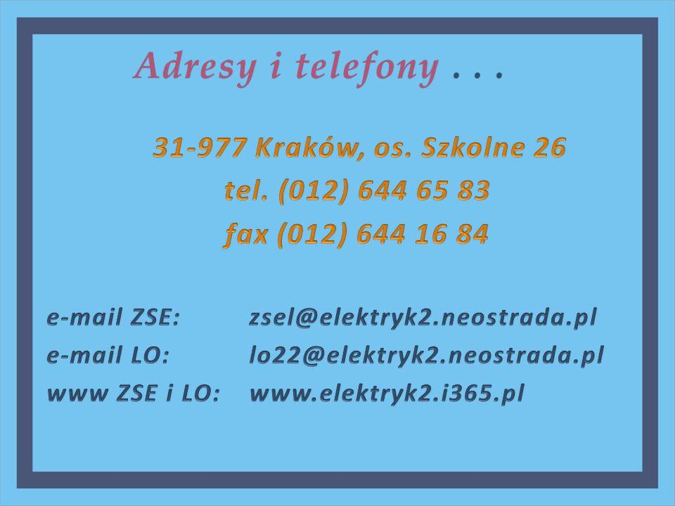 Adresy i telefony...Adresy i telefony...