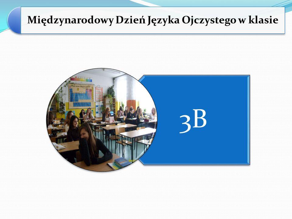 Międzynarodowy Dzień Języka Ojczystego w klasie 3B
