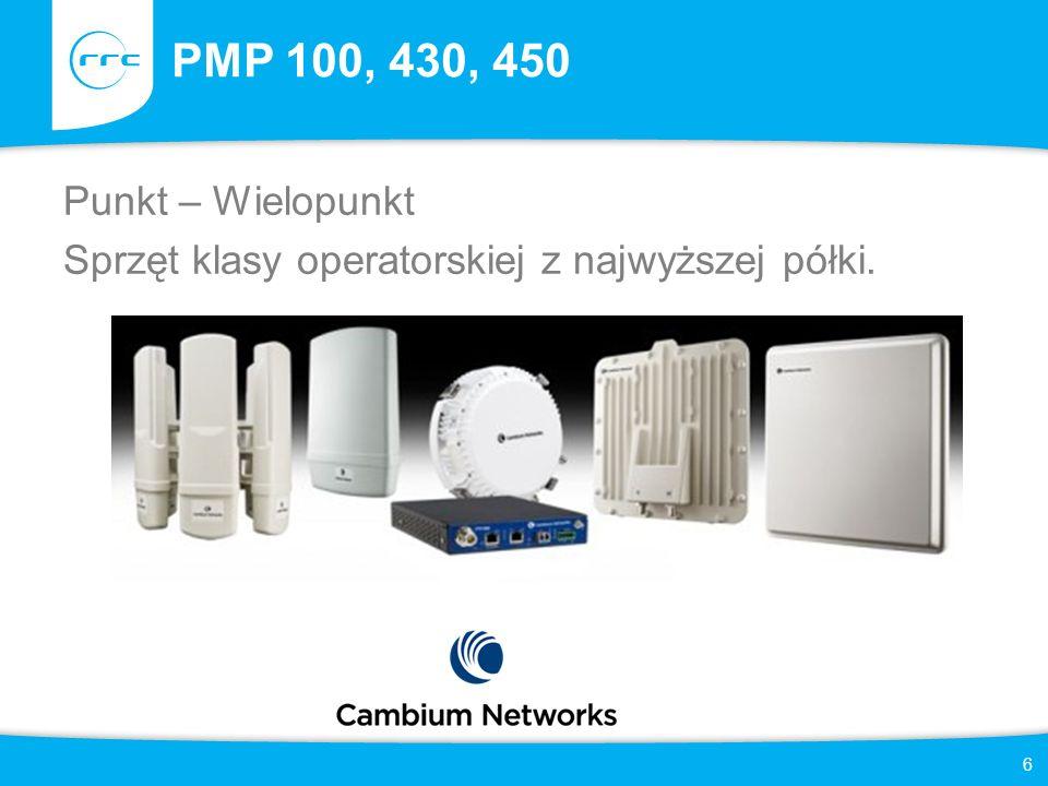 PMP 100, 430, 450 Punkt – Wielopunkt Sprzęt klasy operatorskiej z najwyższej półki. 6