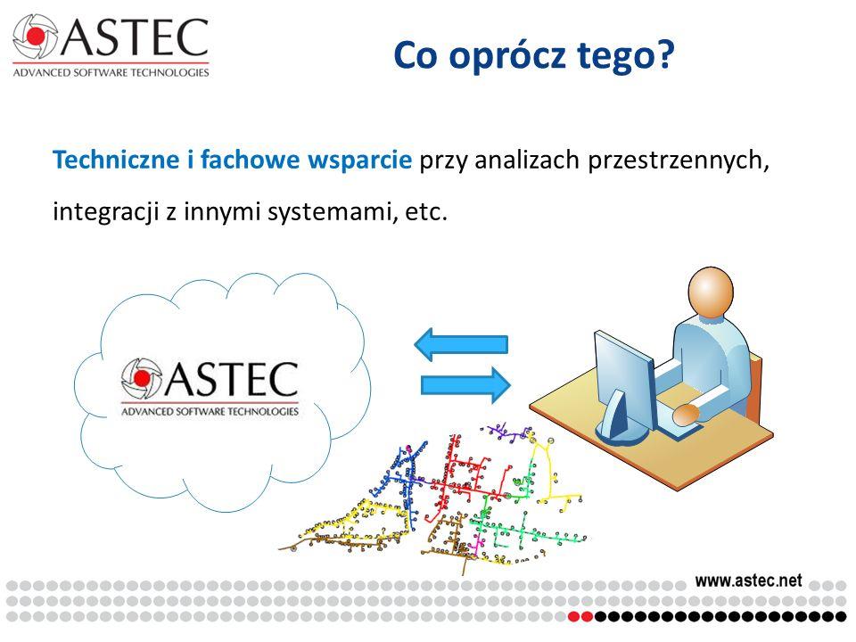 Co oprócz tego? Techniczne i fachowe wsparcie przy analizach przestrzennych, integracji z innymi systemami, etc.