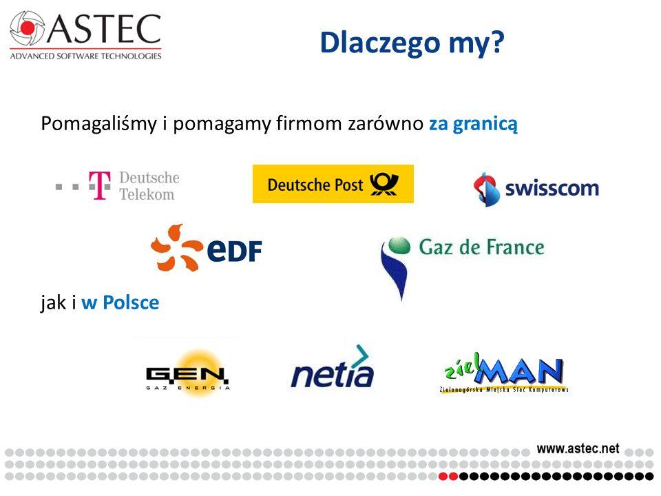 Pomagaliśmy i pomagamy firmom zarówno za granicą jak i w Polsce Dlaczego my?