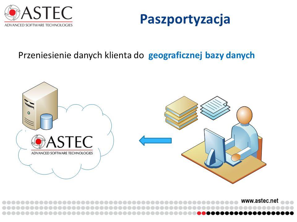 Paszportyzacja Przeniesienie danych klienta do geograficznej bazy danych