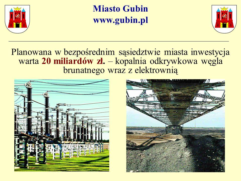 Miasto Gubin www.gubin.pl Planowana w bezpośrednim sąsiedztwie miasta inwestycja warta 20 miliardów zł.