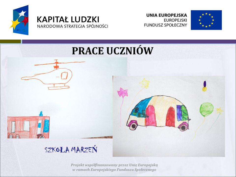 PRACE UCZNIÓW Projekt współfinansowany przez Unię Europejską w ramach Europejskiego Funduszu Społecznego SZKO Ł A MARZE Ń