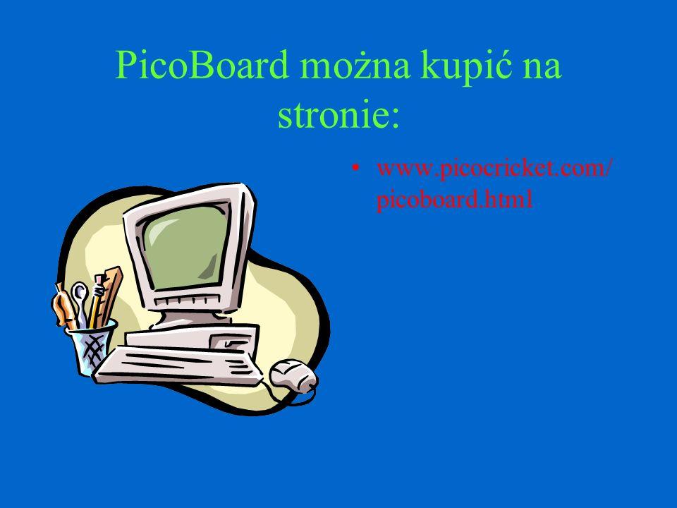PicoBoard to tabela czujników dzięki którym można sterować Scratchem.Na tabeli znajdują się: suwak,przycisk,czujnik dźwięku, czujnik światła,oraz czuj