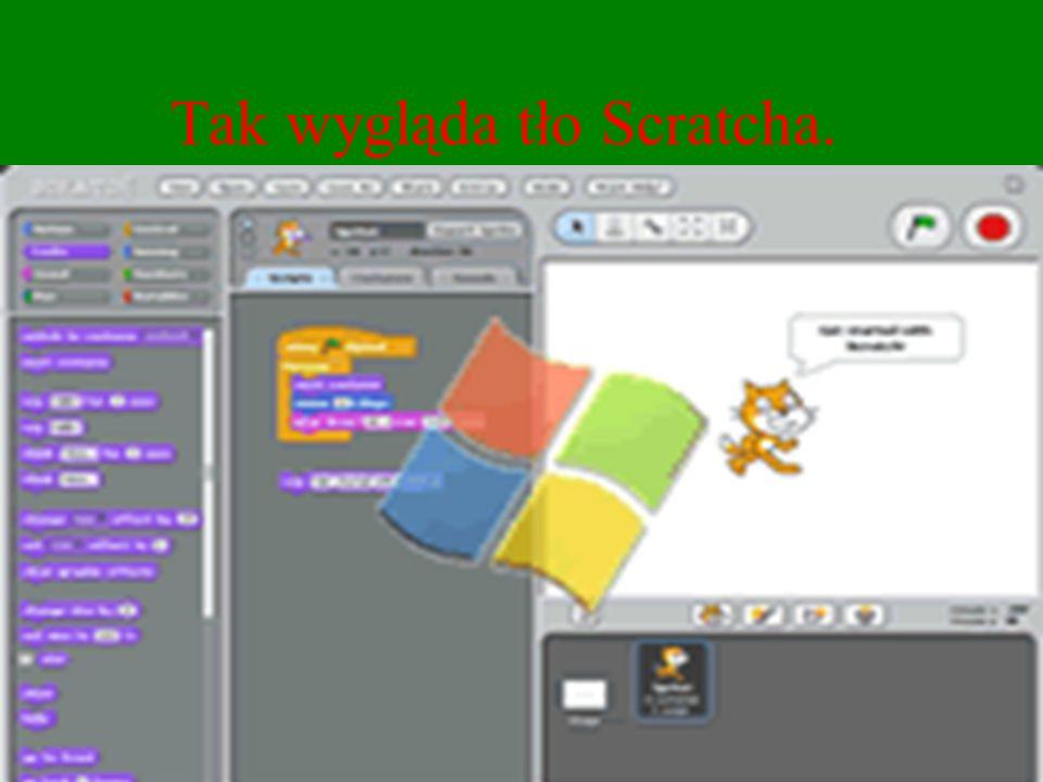 Tak wygląda tło Scratcha.