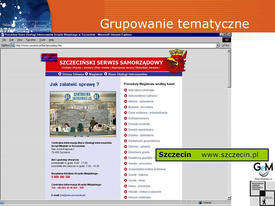 Grupowanie tematyczne Szczecin www.szczecin.pl