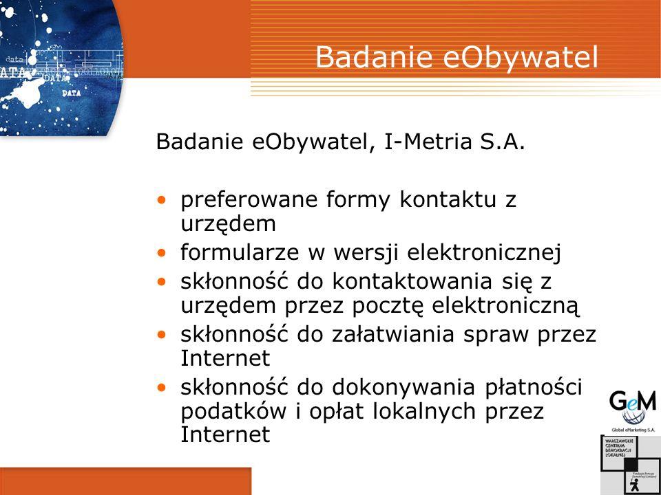 Badanie eObywatel Badanie eObywatel, I-Metria S.A.