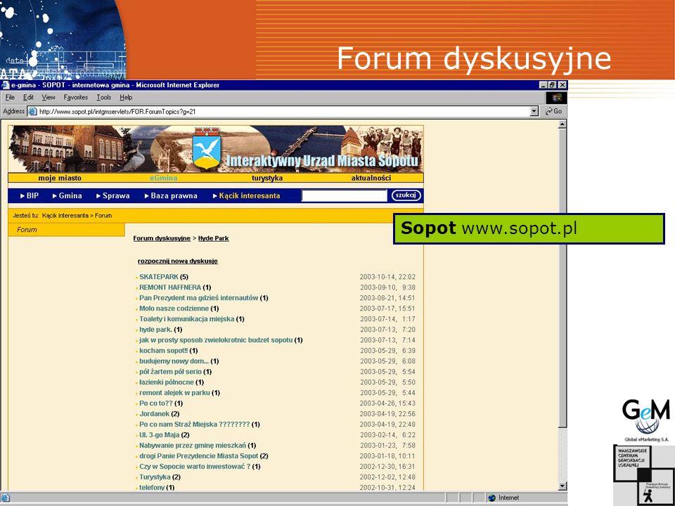 Forum dyskusyjne Sopot www.sopot.pl