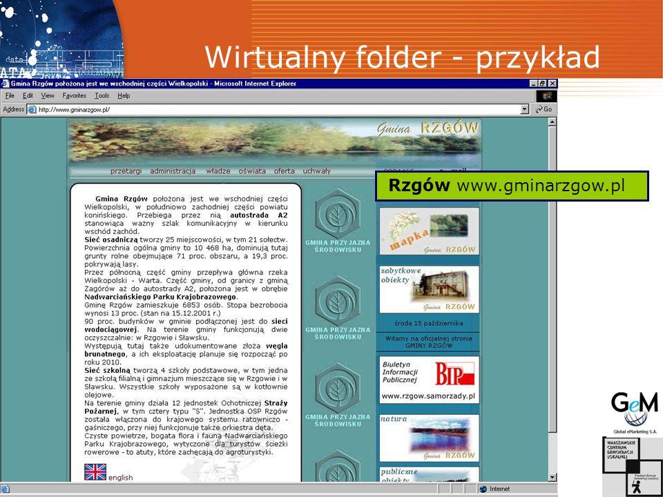 Wirtualny folder - przykład Rzgów www.gminarzgow.pl