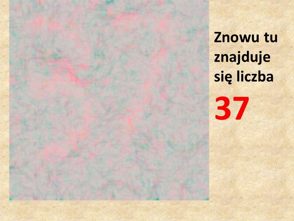 Znowu tu znajduje się liczba 37