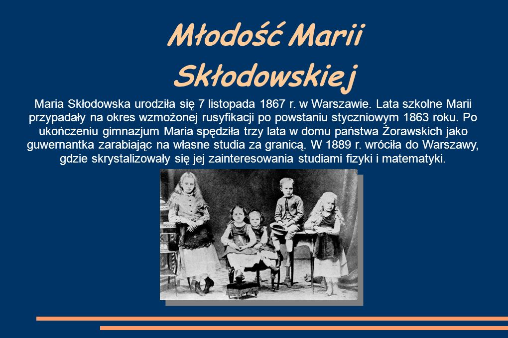 Studia Marii Skłodowskiej Maria z wielkim zapałem uczęszczała na wykłady tzw.