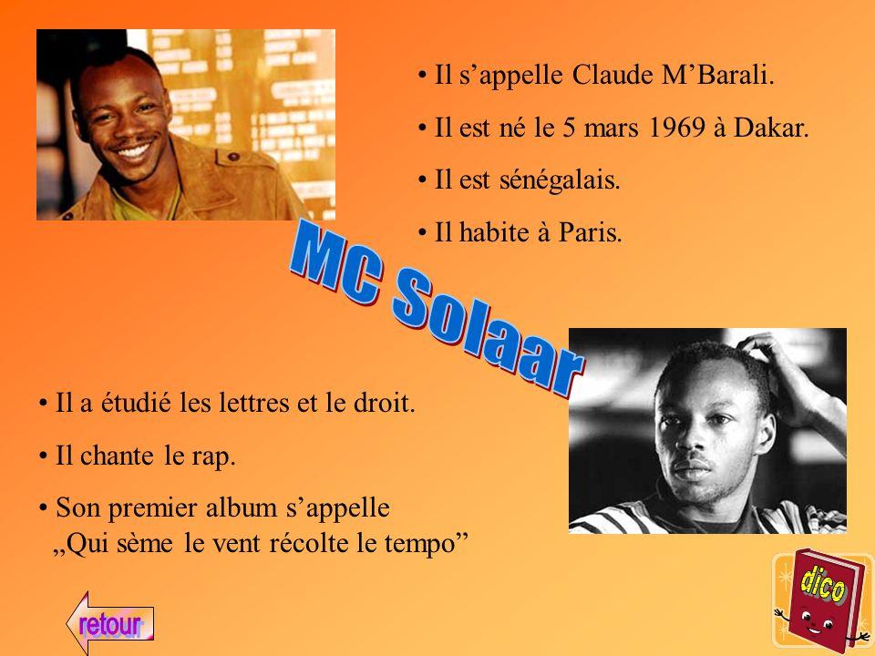 Il sappelle Claude MBarali.Il est né le 5 mars 1969 à Dakar.