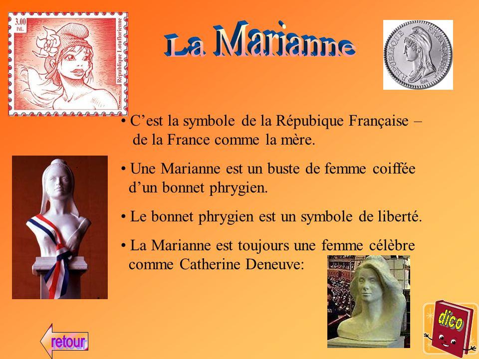 Cest la symbole de la Répubique Française – de la France comme la mère.