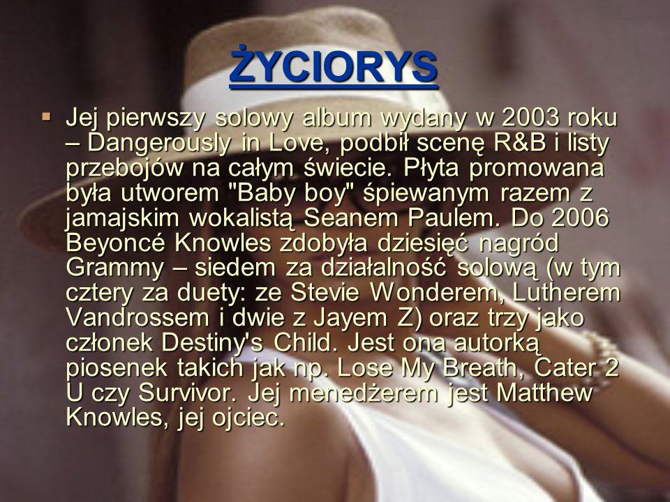 ŻYCIORYS Beyoncé Knowles ma siostrę, Solange Knowles.