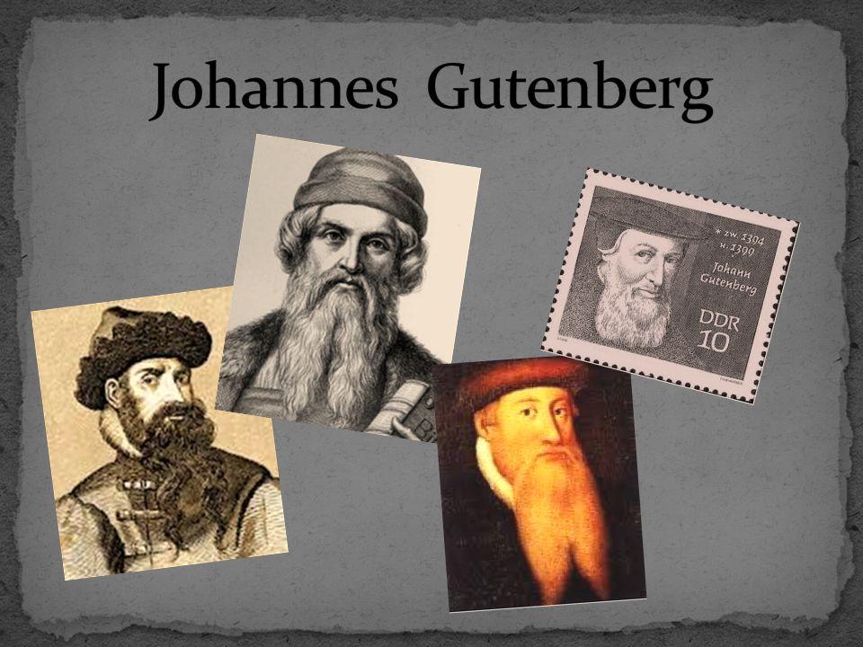 Johannes Gutenberg urodził się w ok.1399r., a zmarł 3 lutego 1468r.