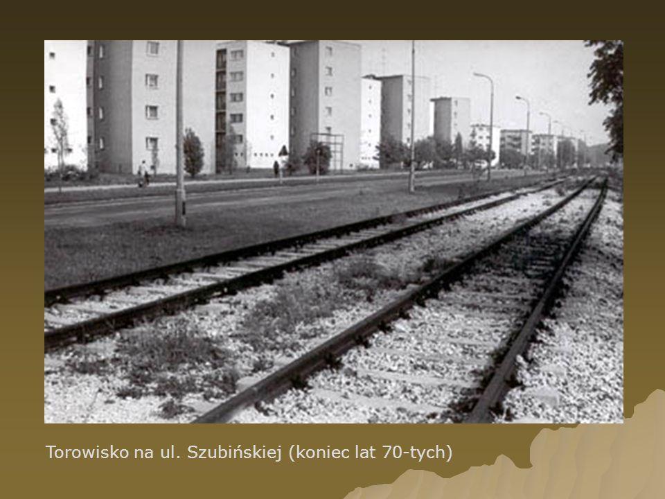 Torowisko na ul. Szubińskiej (koniec lat 70-tych)
