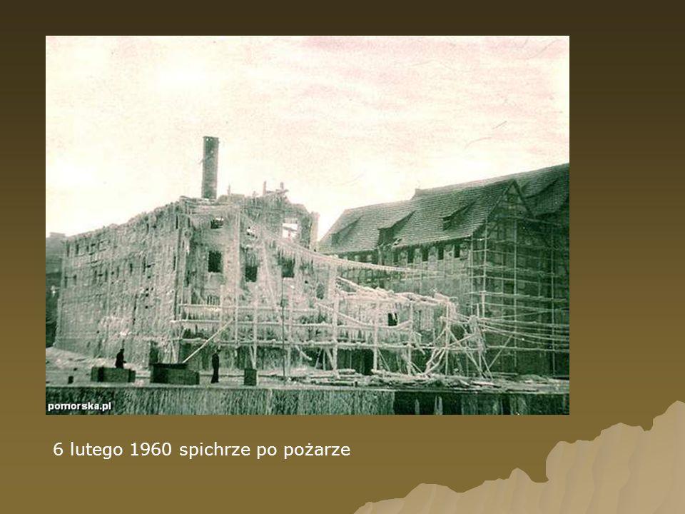 6 lutego 1960 spichrze po pożarze