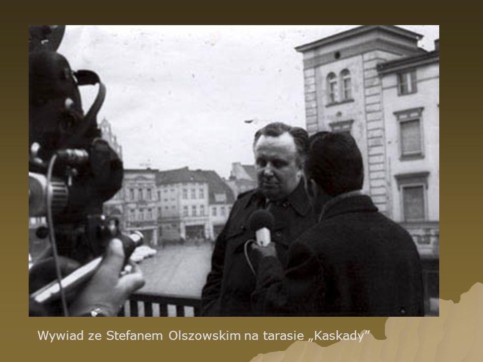 Wywiad ze Stefanem Olszowskim na tarasie Kaskady