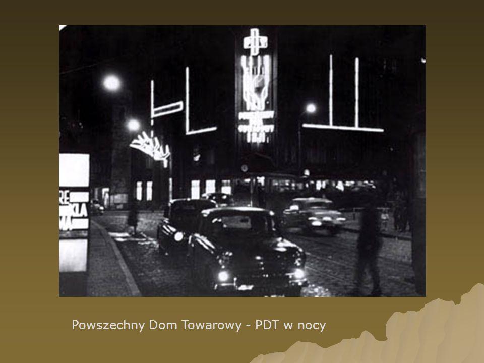 Powszechny Dom Towarowy - PDT w nocy