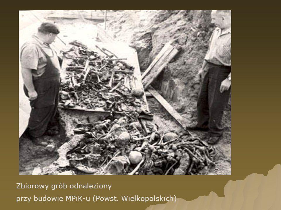 Zbiorowy grób odnaleziony przy budowie MPiK-u (Powst. Wielkopolskich)