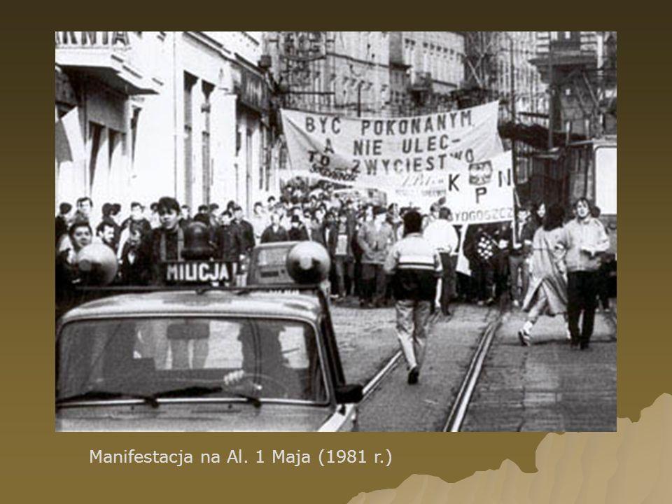 Manifestacja na Al. 1 Maja (1981 r.)
