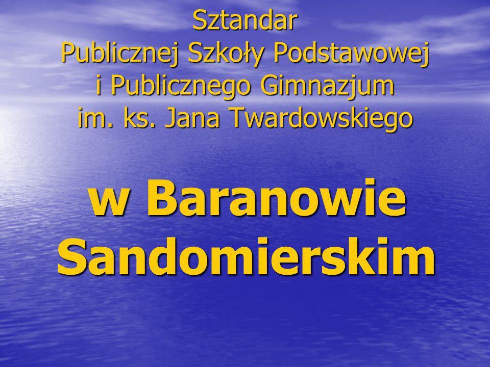 Sztandar Publicznej Szkoły Podstawowej i Publicznego Gimnazjum im.