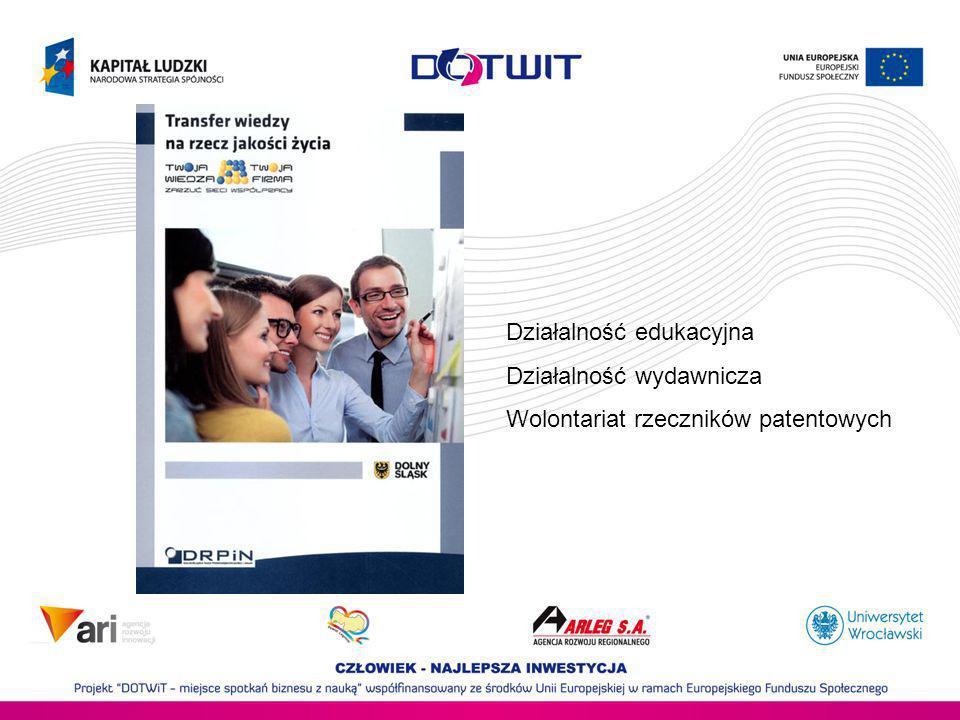 Działalność edukacyjna Działalność wydawnicza Wolontariat rzeczników patentowych