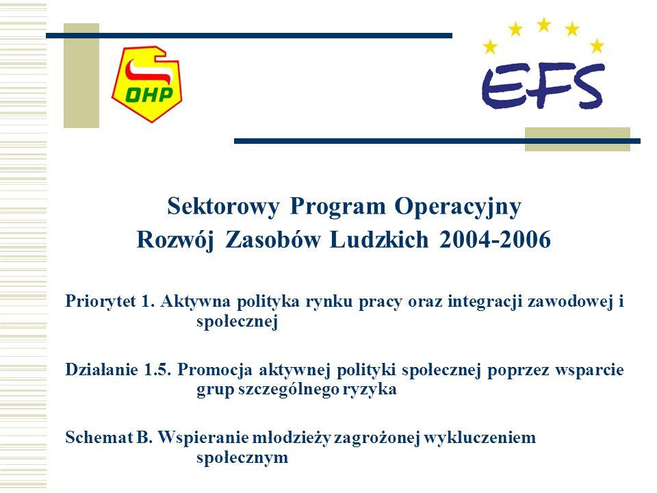 Sektorowy Program Operacyjny Rozwój Zasobów Ludzkich 2004-2006 Priorytet 1. Aktywna polityka rynku pracy oraz integracji zawodowej i społecznej Działa