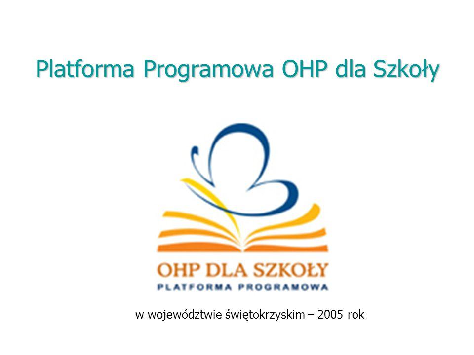 Platforma Programowa OHP dla Szkoły w województwie świętokrzyskim – 2005 rok