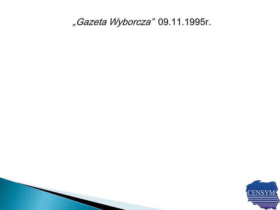 Gazeta Wyborcza 09.11.1995r.