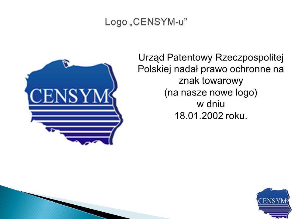 Urząd Patentowy Rzeczpospolitej Polskiej nadał prawo ochronne na znak towarowy (na nasze nowe logo) w dniu 18.01.2002 roku.