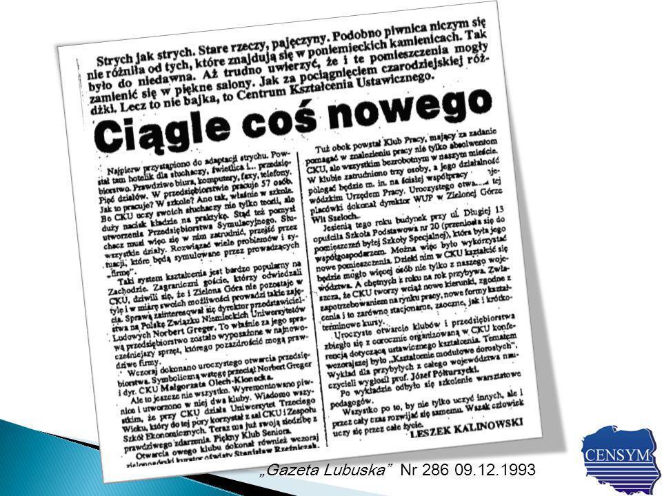 Gazeta Lubuska Nr 286 09.12.1993