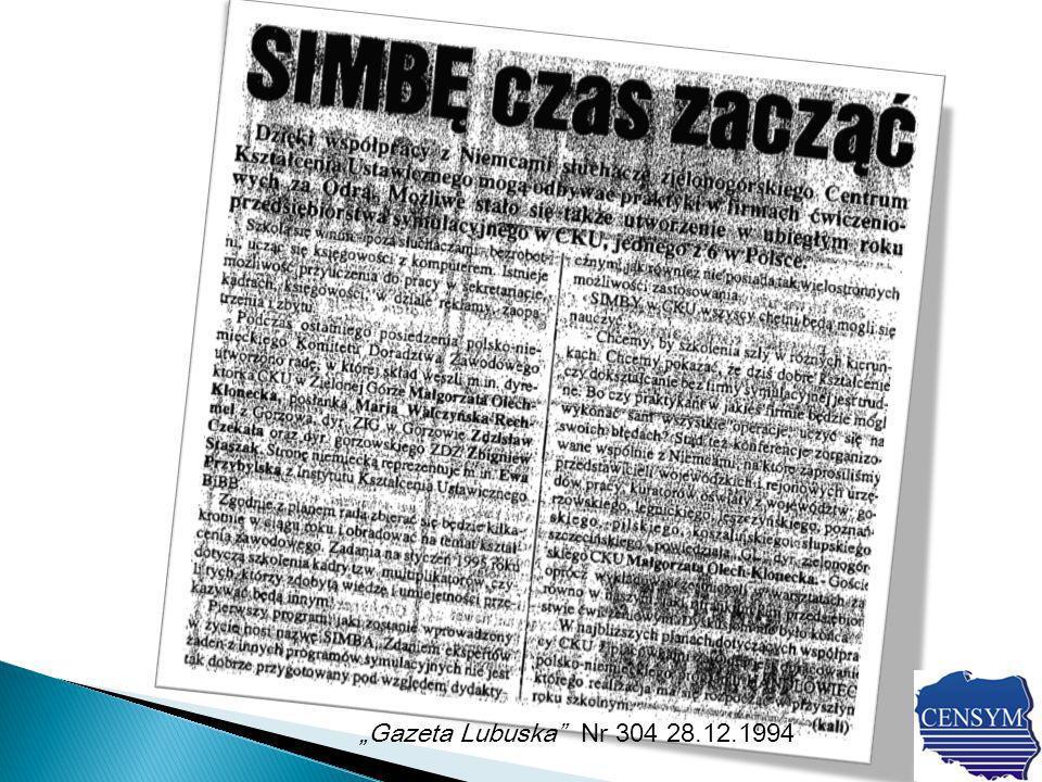 Gazeta Lubuska Nr 304 28.12.1994