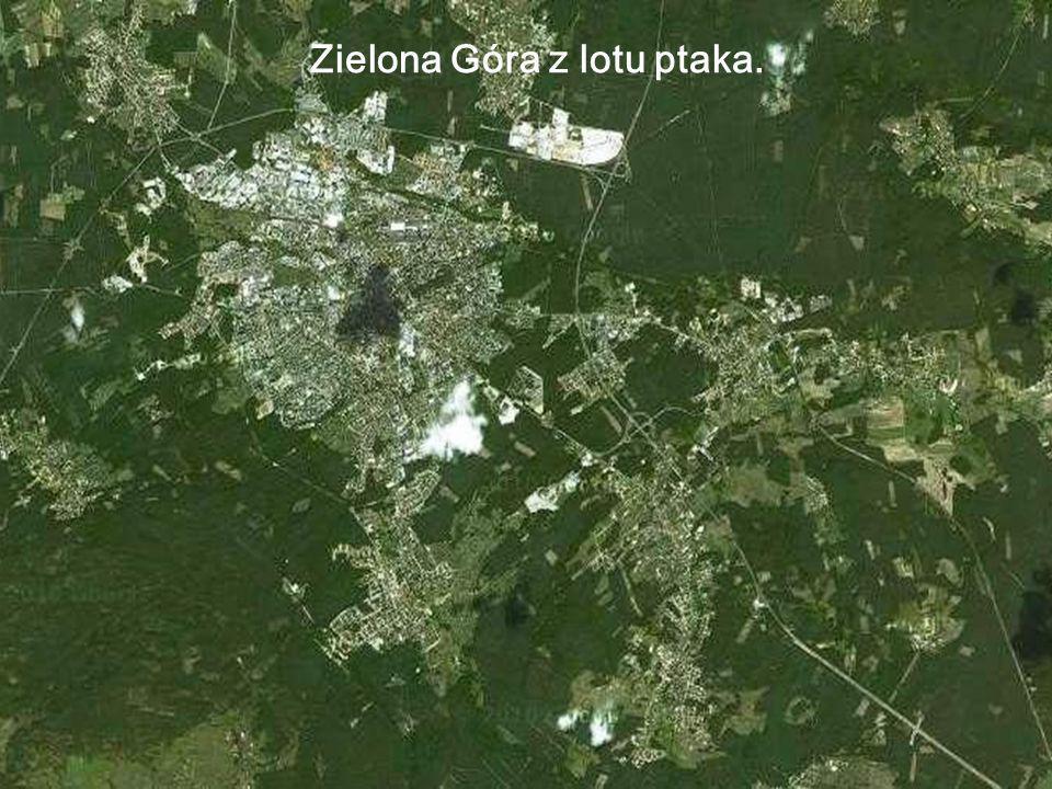 Zielona Góra z lotu ptaka.