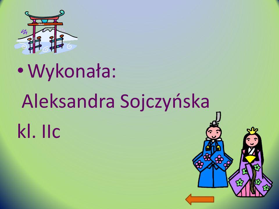 Wykonała: Aleksandra Sojczyńska kl. IIc