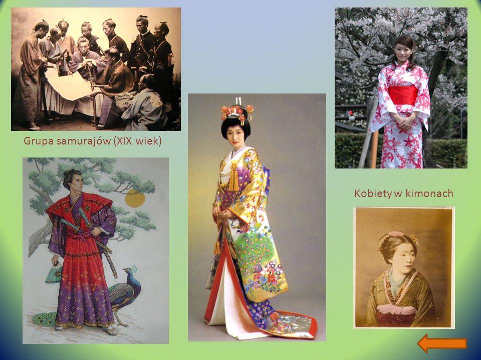 Grupa samurajów (XIX wiek) Kobiety w kimonach