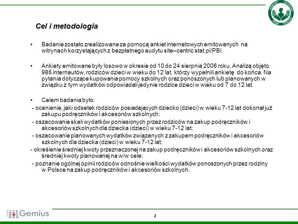 23 Jakiej części polskich rodzin, Pan(i)a zdaniem, nie stać na zakup pomocy szkolnych dla dzieci.