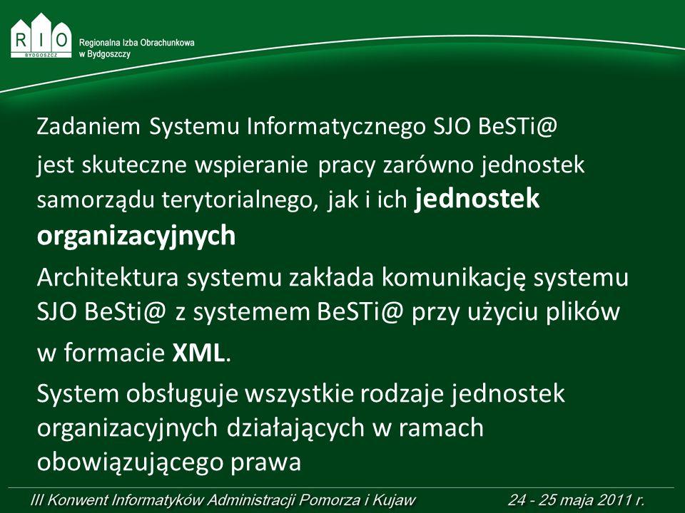 Zadaniem Systemu Informatycznego SJO BeSTi@ jest skuteczne wspieranie pracy zarówno jednostek samorządu terytorialnego, jak i ich jednostek organizacy