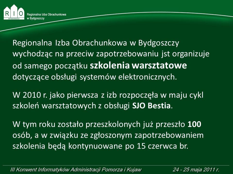 Regionalna Izba Obrachunkowa w Bydgoszczy wychodząc na przeciw zapotrzebowaniu jst organizuje od samego początku szkolenia warsztatowe dotyczące obsłu