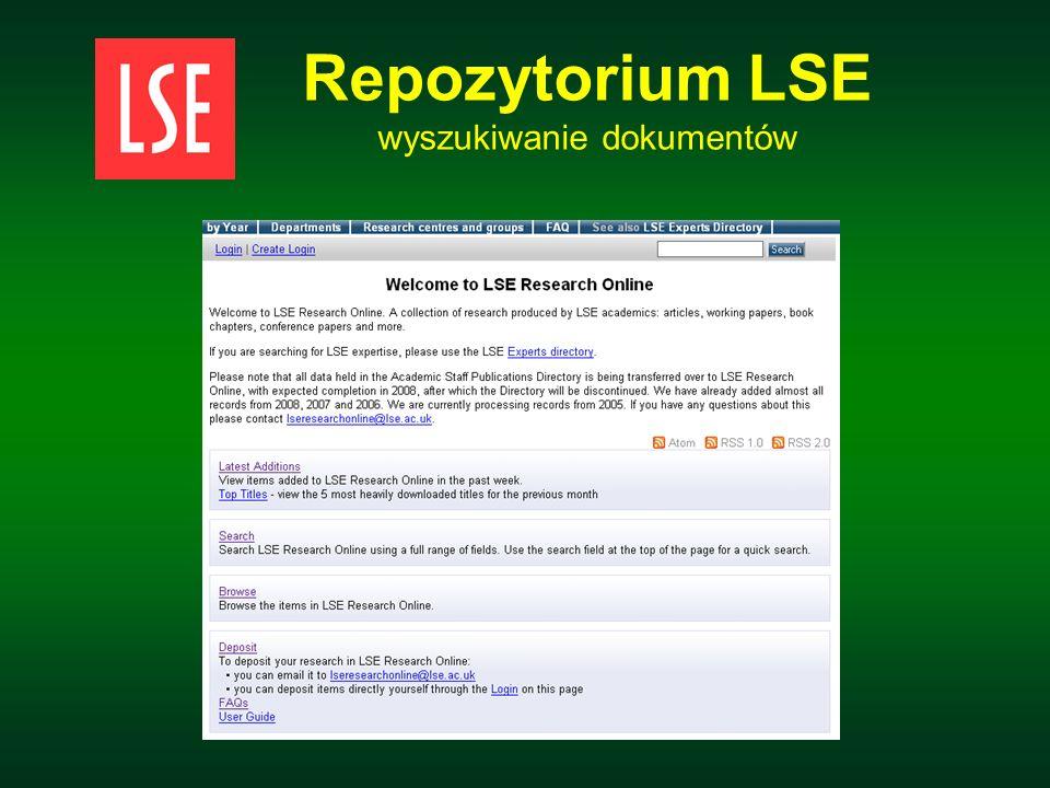 Repozytorium LSE wyszukiwanie dokumentów