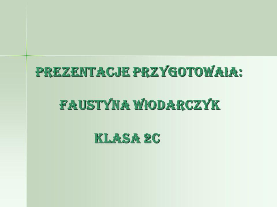 Prezentacje przygotowa ł a: Faustyna W ł odarczyk klasa 2c