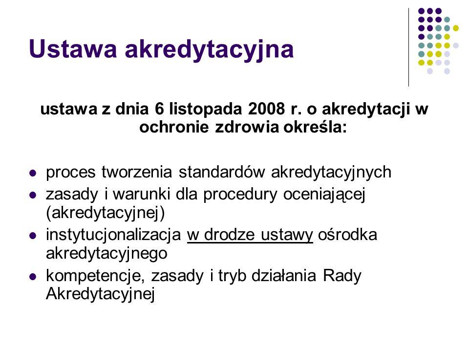 Ustawa akredytacyjna ustawa z dnia 6 listopada 2008 r.