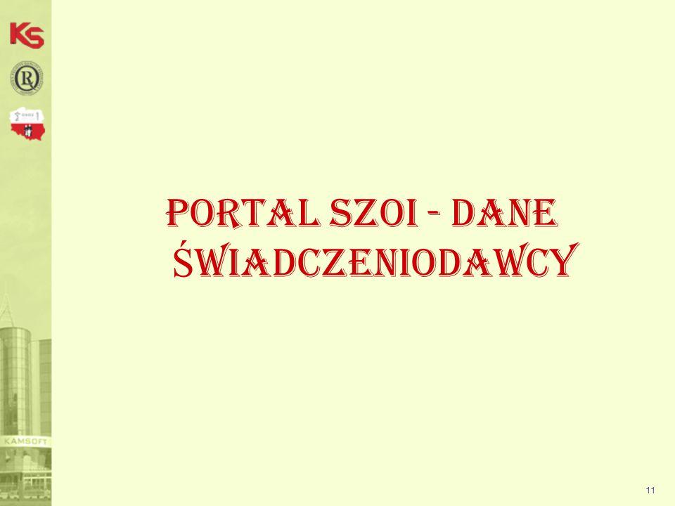 11 Portal SZOI - DANE Ś WIADCZENIODAWCY