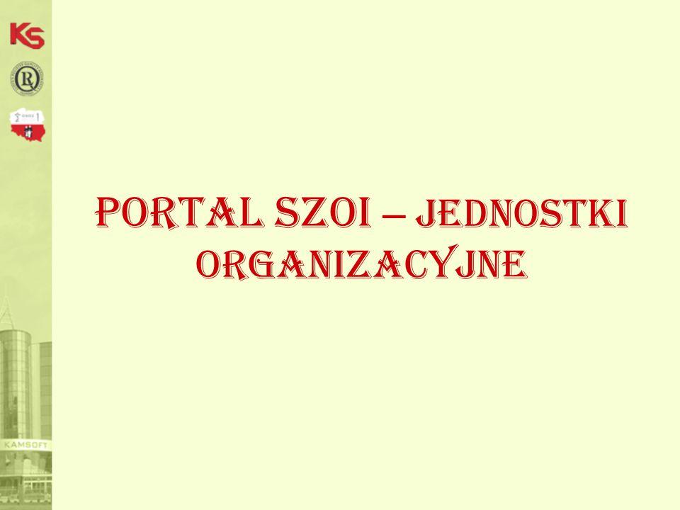 Portal SZOI – jednostki organizacyjne