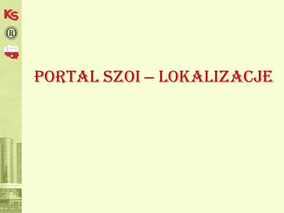 Portal SZOI – lokalizacje