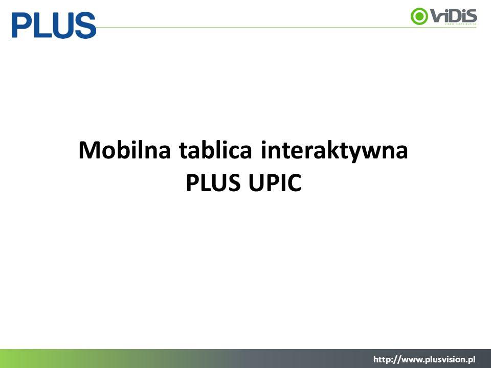 http://www.plusvision.pl Mobilna tablica interaktywna PLUS UPIC