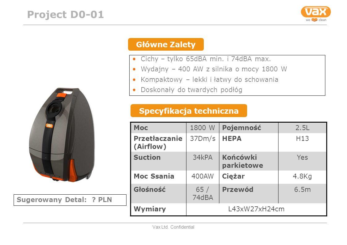Vax Ltd. Confidential Cichy – tylko 65dBA min. i 74dBA max.